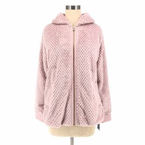 Ideology Quilted Fleece Faux Fur Fuzzy Jacket